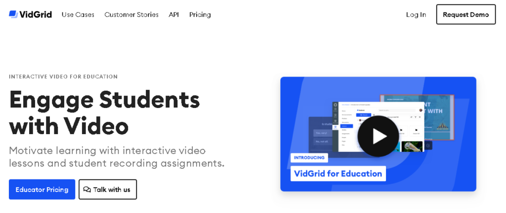 VidGrid software to help teachers with their workload.