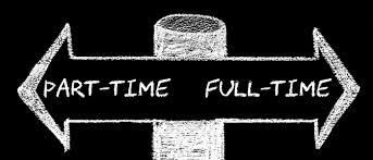 Tutors deciding to tutor full time or part time.